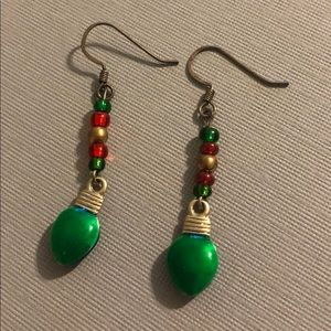 Jewelry - Holiday lights dangle earrings
